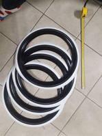 Флиппера на колеса, вайтволлы, вайтбенды, колорбенды, R16 черно-белые Турция, фото 1