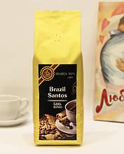 Кава в зернах 500 гр Бразилія Сантос