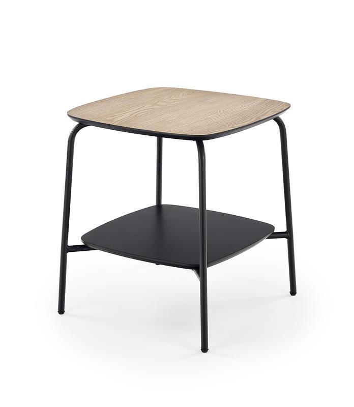 Журнальний стіл GENUA LAW-1 ясен/чорний (45х45х50) Halmar