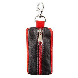 Комбинированная ключница из натуральной кожи Shvigel 13952, Черный