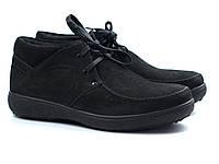 Черные нубуковые ботинки зимние мужская обувь Rosso Avangard Basemokas Nub