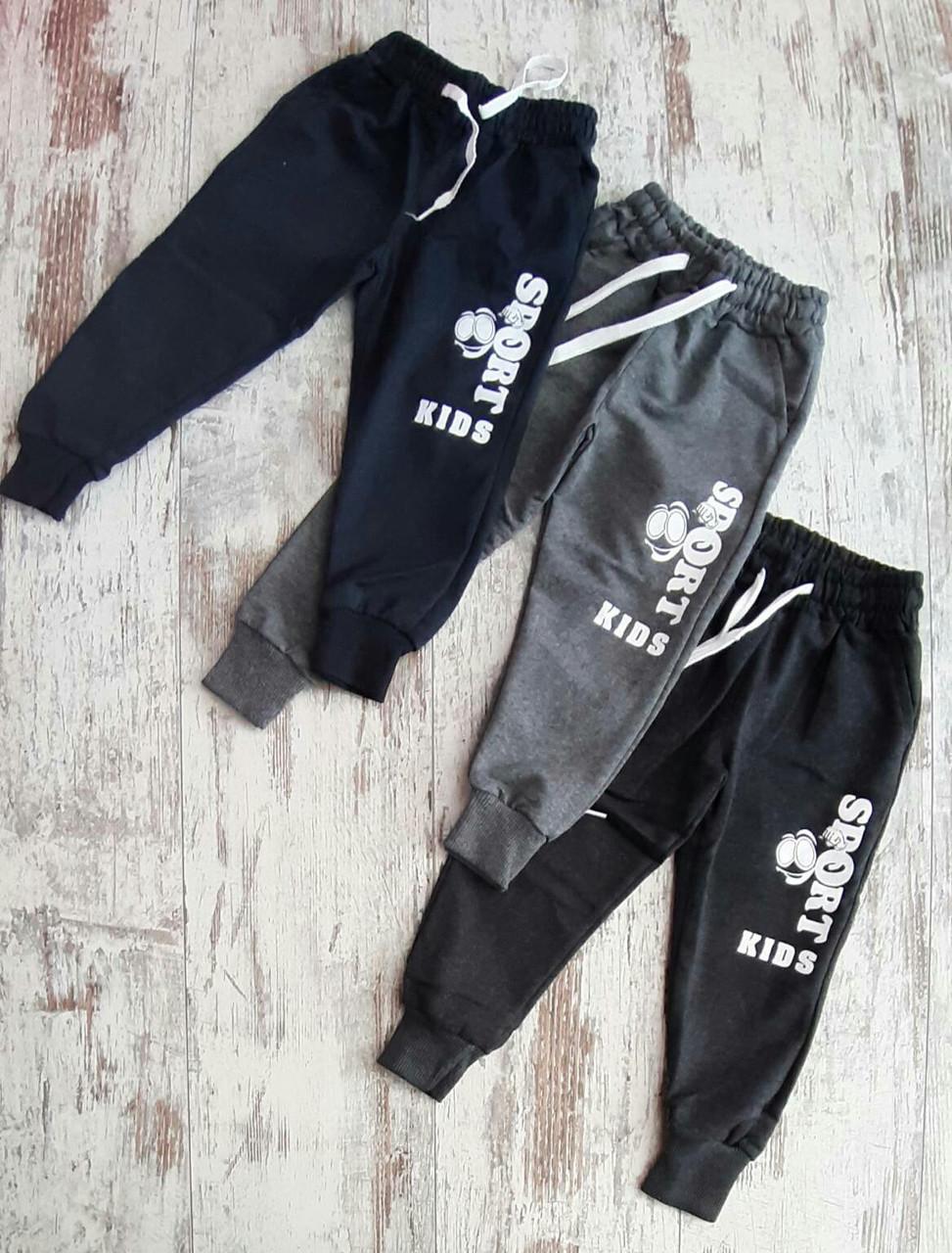 Детские спортивные штаны 1-4 года двунитка для мальчиков Турция оптом