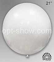 """Шар гигант белый 21"""" (52,5 см) Арт Шоу"""