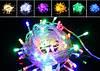 Новогодняя светодиодная гирлянда нить 10 метров многоцветная