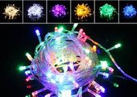 Новогодняя светодиодная гирлянда нить 10 метров многоцветная, фото 1