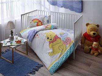 Комплект постельного белья в кроватку TAC Winnie Hunny Baby Ранфорс
