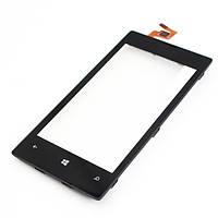 Оригинальный тачскрин / сенсор (сенсорное стекло) с рамкой для Nokia N521 (черный цвет)