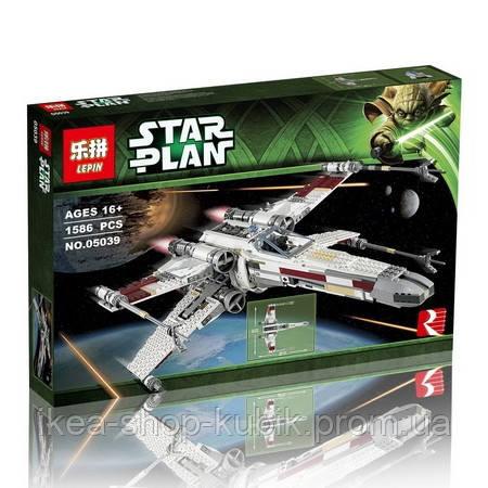 """Конструктор Lepin 05039 """"Винищувач типу X-Wing Ред Файв"""", 1586 дет"""