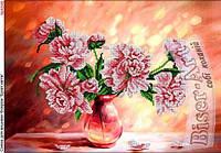 Розовые пионы. Схема для вышивки бисером БисерАрт