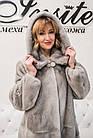 Шуба Норковая Серая 100 см Канадская С Капюшоном 100/115  0558ЕИШ, фото 10