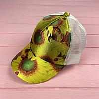 Кепка с сеткой - flower, фото 1