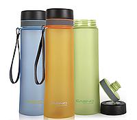 Бутылка для питья, воды Casno 1 литр - с фильтром, ЭКОпластик, спортивная, Пляшка для пиття,