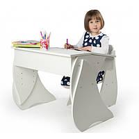 Белые стул и парта регулируемые Соня для дома