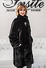 Шуба Норковая Черная 100 см Канадская Стойка 100/125  0554ЕИШ, фото 9