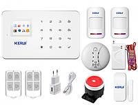 Комплект беспроводной gsm сигнализации Pro для 1-комнатной квартиры Kerui G18, фото 1