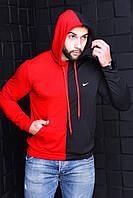 Мужской черно-красный батник Nike