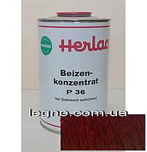 Концентрат красителя P36 Махагон Герлак (Herlac) - для подкрашивания лаков (лютофен), 1л, Германия