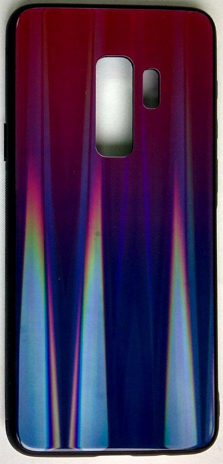 """Силиконовый чехол """"Стеклянный Shine Gradient"""" Samsung G965 / S9 + (Violet Barca) # 8"""