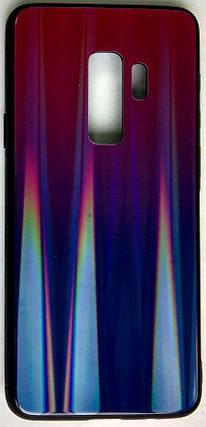 """Силиконовый чехол """"Стеклянный Shine Gradient"""" Samsung G965 / S9 + (Violet Barca) # 8, фото 2"""