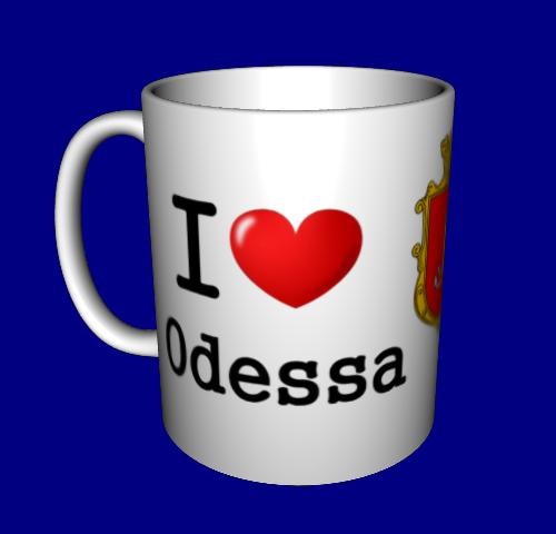 """Кружка / чашка """"I love"""" Одеса"""