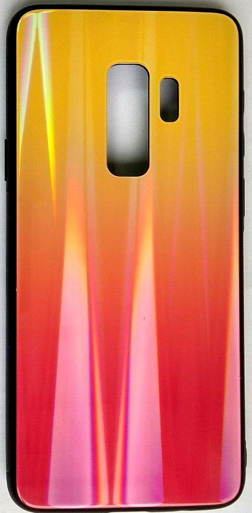 """Силиконовый чехол """"Стеклянный Shine Gradient"""" Samsung G965 / S9 + (Sunset red) # 5"""