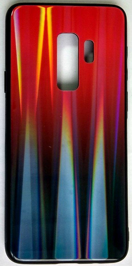 "Силиконовый чехол ""Стеклянный Shine Gradient"" Samsung G965 / S9 + (Ruby red) # 16"