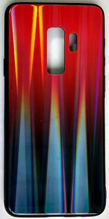 """Силиконовый чехол """"Стеклянный Shine Gradient"""" Samsung G965 / S9 + (Ruby red) # 16, фото 2"""