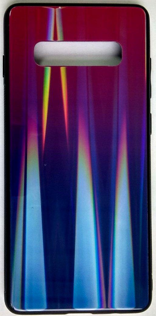 "Силіконовий чохол ""Скляний Shine Gradient"" Samsung G975/S10+ (Violet Barca) #8"