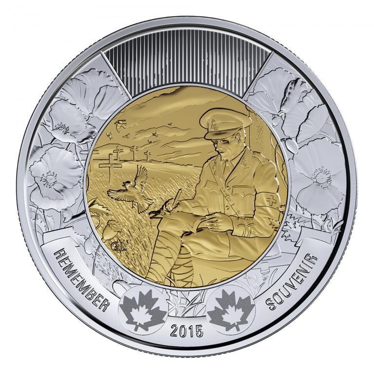 Канада 2 доллара 2015, День памяти
