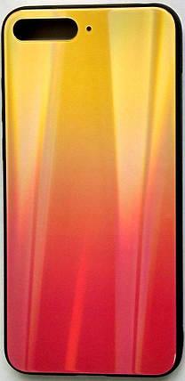 """Силіконовий чохол """"Скляний Shine Gradient"""" Huawei Y6 2018 (Sunset red) #5, фото 2"""