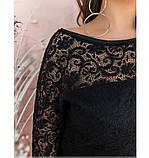 Нарядный костюм с блузой и брюками №202-черный, фото 4