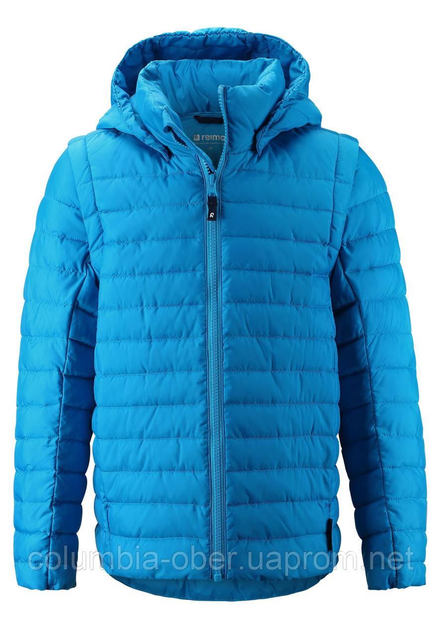 Демисезонная куртка для мальчика 2 в 1 Reima Flykt 531441-7390. Размеры 104 - 158.