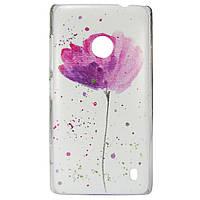 Чехол с рисунком Printed Plastic для Nokia Lumia 520 / 525 Цветок