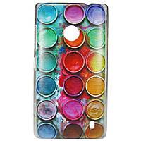 Чехол с рисунком Printed Plastic для Nokia Lumia 520 / 525 Краски