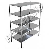 Стеллаж производственный кухонный четырехуровневый из нержавеющей стали ( 4 полки )