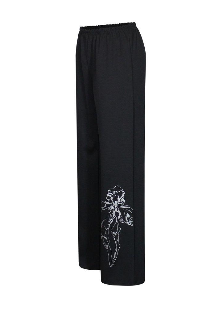 Ровные трикотажные брюки Ирисы / размеры до 64+ / женские
