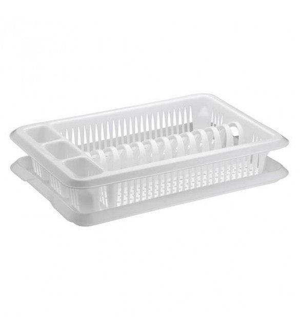 Сушка для посуды одноярусная Ажур белая Elif Plastik 307