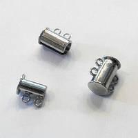 Замок-слайдер магнитный на 2 струны (1,4*1,3 см) сталь