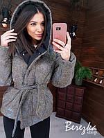 Женская демисезонная куртка хамелеон из блестящей плащевки люрекс 6601245E, фото 1