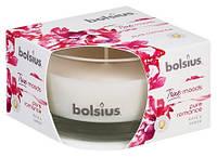 Аромасвеча в стекле роза и янтарь Bolsius (36060 PRO)