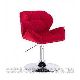 Парикмахерское кресло HROVE FORM HR111 на низкой барной основе в ЦВЕТАХ велюр