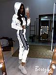 Світловідбиваючий спортивний жіночий костюм з укороченим бомбером і контрастними вставками 6605840Q, фото 4
