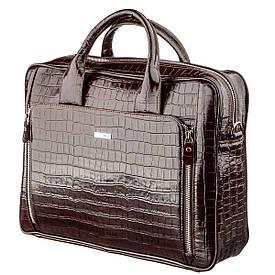 Портфель мужской KARYA 17363 кожаный Коричневый, Коричневый