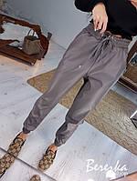 Женские кожаные брюки на резинке и манжетах в расцветках 6612430E