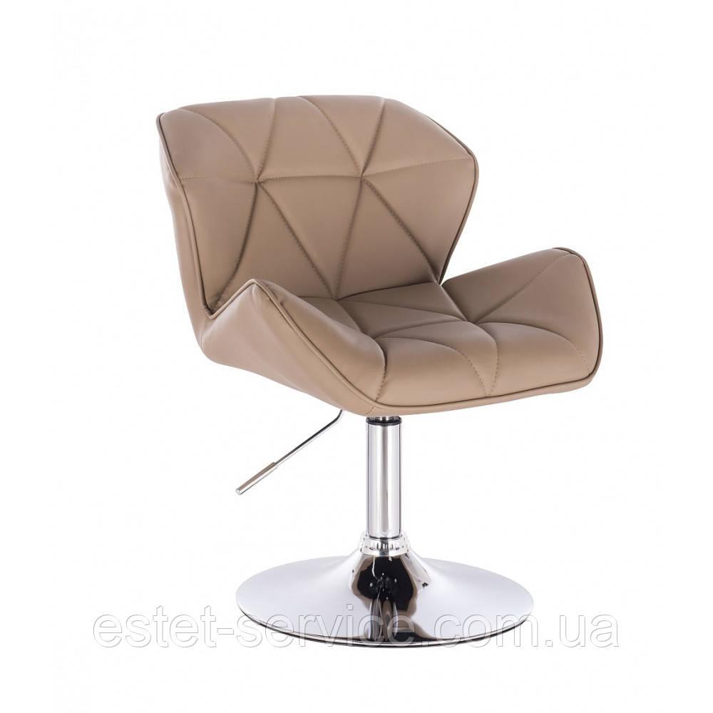 Кресло косметическое HC111N на низкой барной основе в ЦВЕТАХ кожзам
