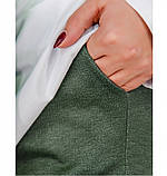 Стильный костюм-тройка большого размера в стиле casual №782СБ-темно зеленый, фото 4