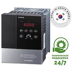 Преобразователь частоты на 0.4 кВт HYUNDAI - N700E-004HF - Входное напряжение: 3-ф 380V