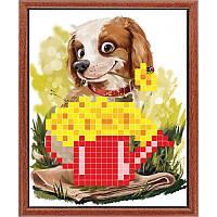 Собака с лейкой. Повна скриня. Схема для вышивания бисером