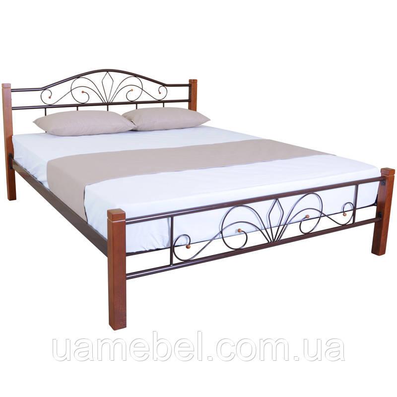 Двуспальная кровать Eagle COMO 1600x2000 brown (E1861)