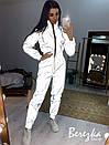 Жіночий світловідбиваючий спортивний костюм з бомбером на блискавці 66so839Q, фото 2
